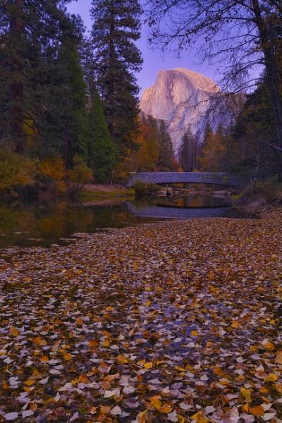 Blue Hour at Sentinel Bridge in Yosemite by john_w168