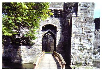 Doorway at Beaumaris Castle.