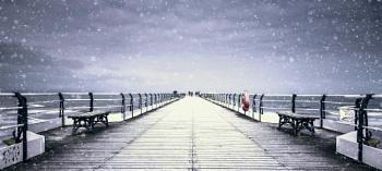 Saltburn Pier Snow Storm