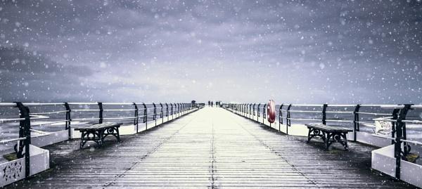 Saltburn Pier Snow Storm by PaulRookes