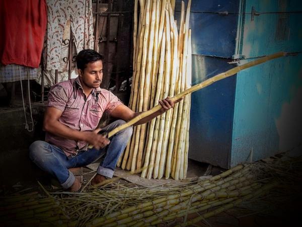 Sugar cane juice sellerHe by sugavanam