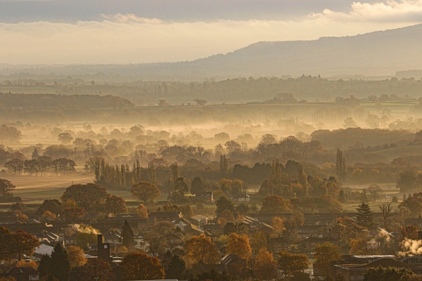 early morning mist over the river by peterjay80