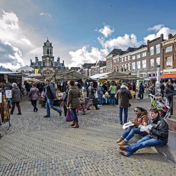 Market in Delft by joop_