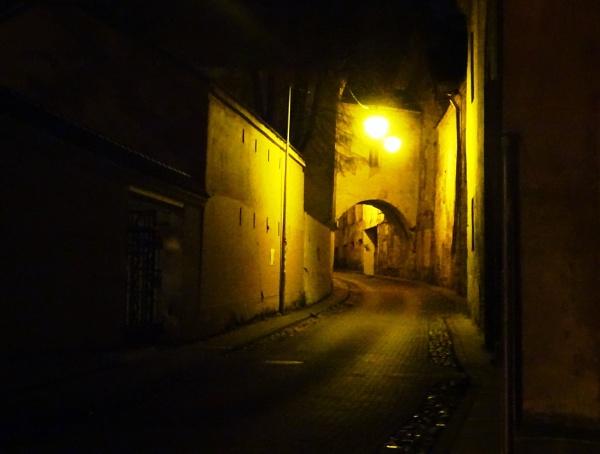 Empty backstreet by Kabrielle
