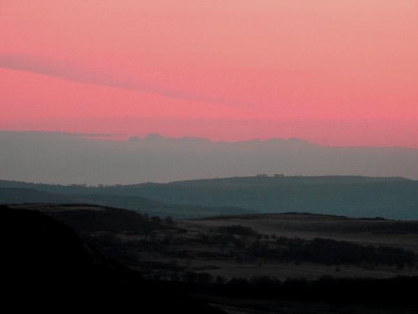 Peak district November evening light by Alan26