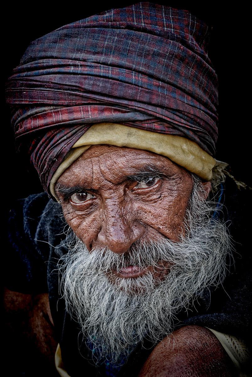 Crippled pilgrim of Haridwar