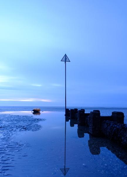Blue hour beach by iNKFIEND
