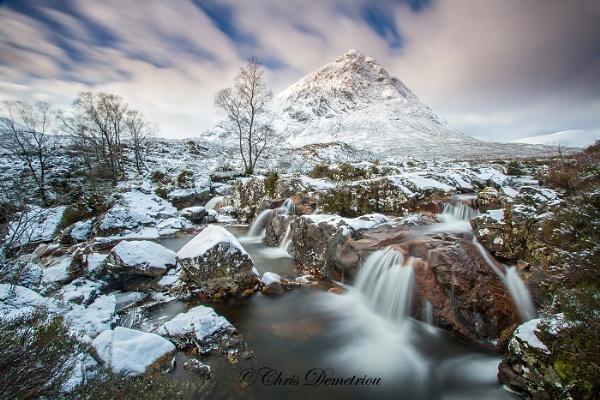 Etive Mor Waterfall by wishboneuk999