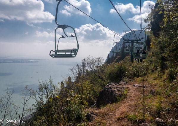 Ropeway - Longmen Scenic Area, Kunming China by Swarnadip