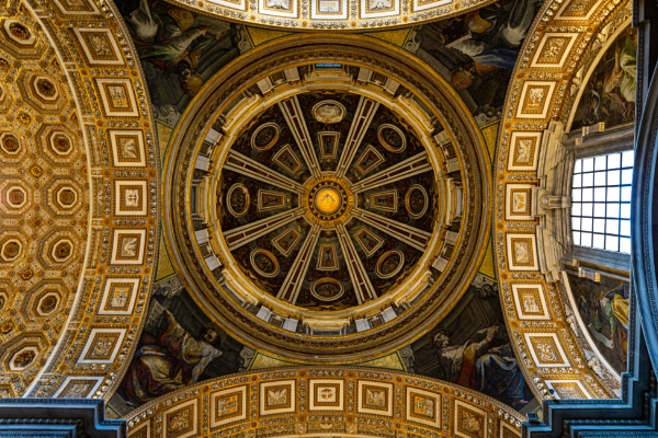Interior of Saint Peter basilica by rninov