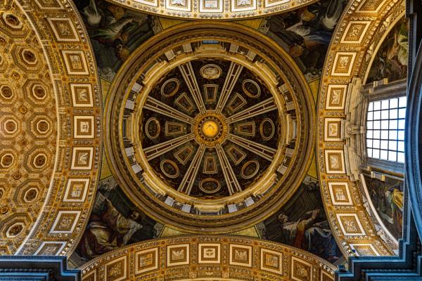 Interior of Saint Peter basilica by rninov