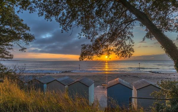 Beach Huts Sunrise by NickLucas