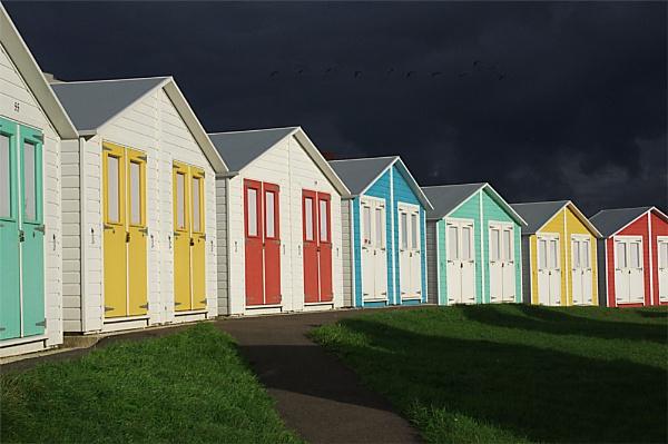 Beach Huts by sueriley