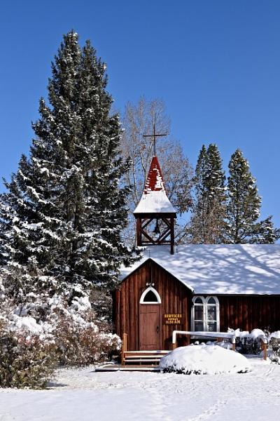 cowboy church in winter by waltknox