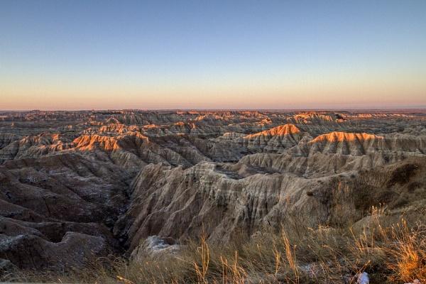 Badlands Sunrise by fotolooney