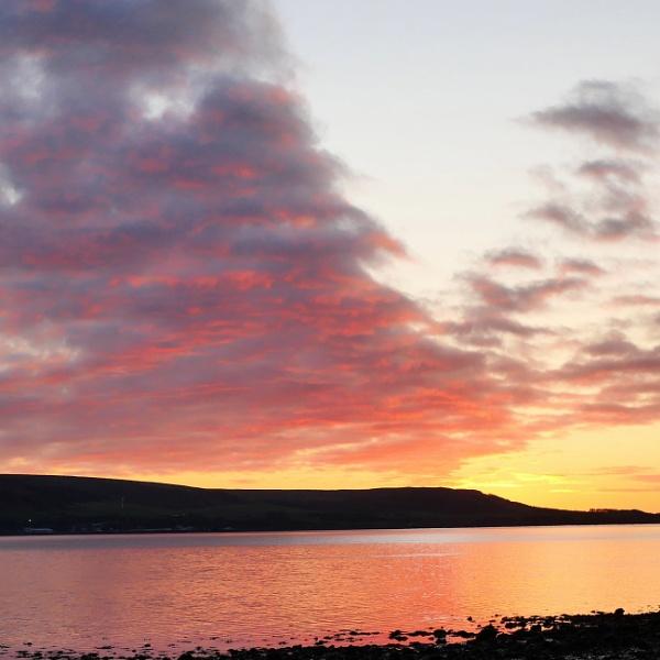 Sunrise over Loch Ryan by Backabit