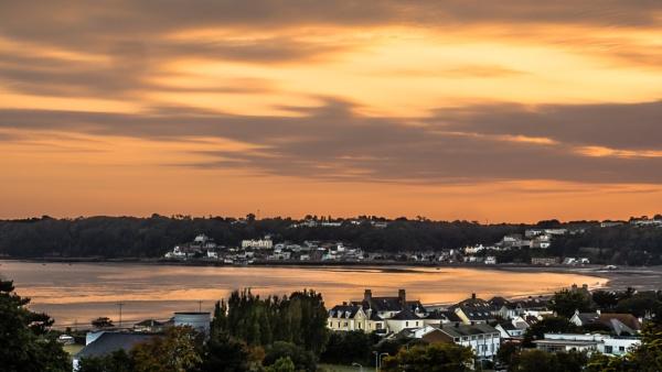 Sunset over St Aubin by Bore07TM