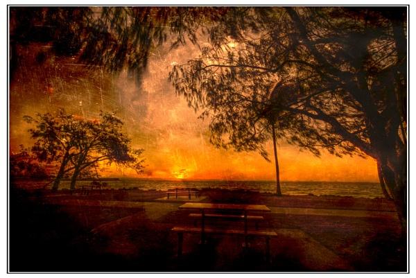 Sun Setting by Peco