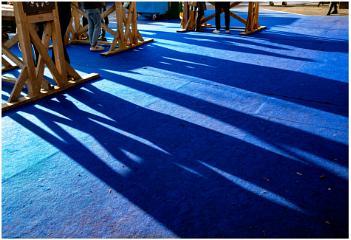 Xmas Market Shadows