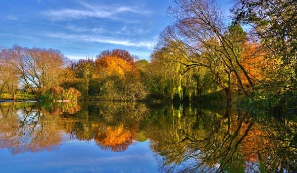 Autumn on Charlton\'s Pond Billingham. by georgiepoolie