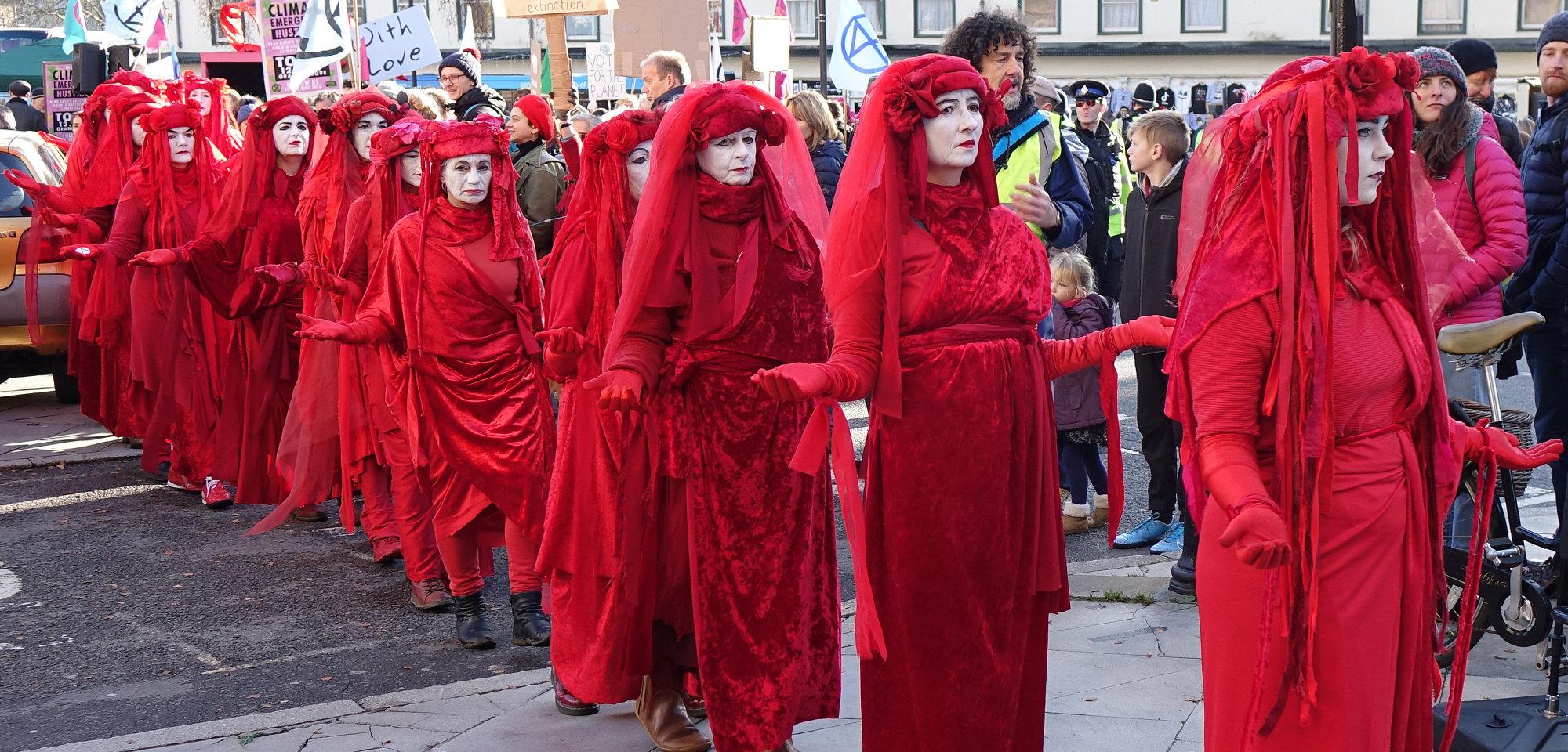 Part of Extinction Rebellion Demonstration in Bath, (end of November 2019)