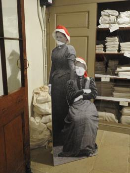 The staff at Haddon Hall are now ready for Christmas