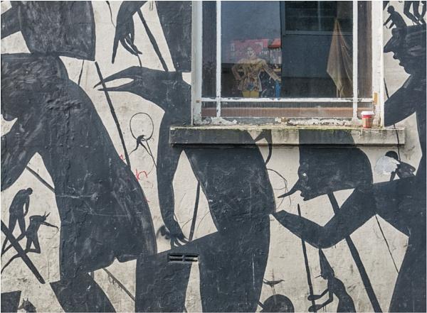A lady in the window. by franken