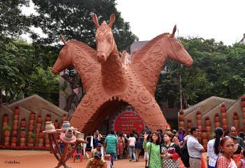 A grand entry to the Durga Puja Pandal,Kolkata.