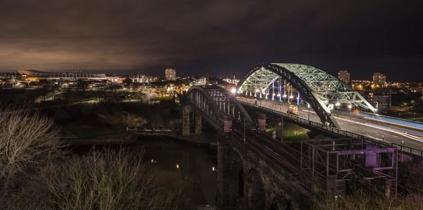 Wearmouth & Monkwearmouth Bridges & the Stadium of Light by pughs