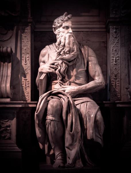 Statue of Moses in  basilica San Pietro in Vincoli by rninov