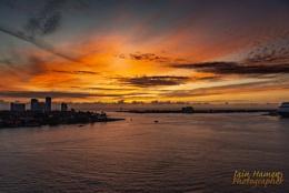 Sunrise over Port Everglades