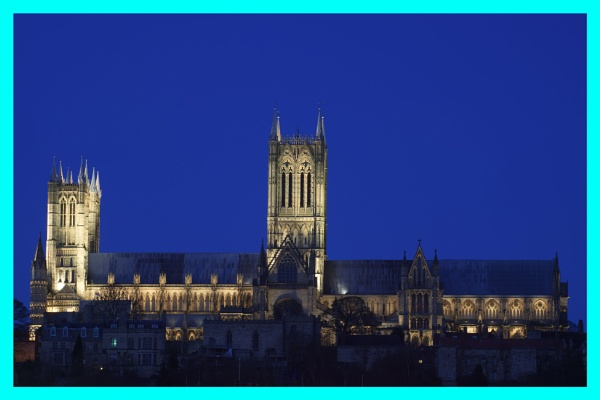 Lincoln cathedral at night by steve120464