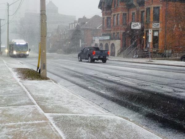 LET IT SNOW ON JAMES ST S in HAMILTON, ONTARIO # 1 by TimothyDMorton