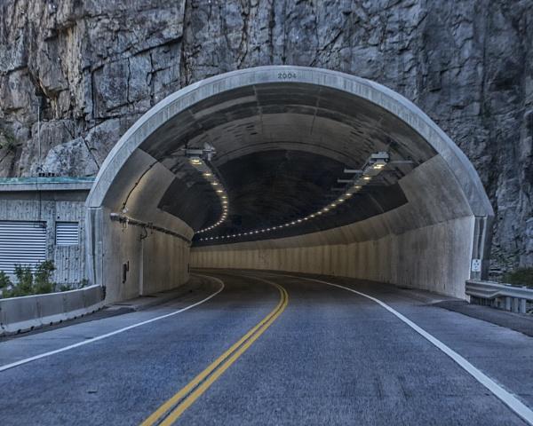 Mountain tunnel by jbsaladino