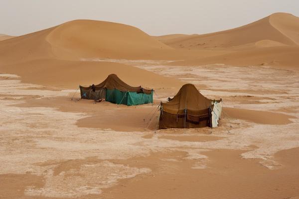 Beduin tents in Erg Chigaga, Sahara, Morocco. by jon07wilson