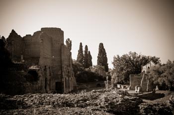 Ancient Roman ruins in Villa Adriana