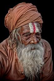 A very old sadhu in Haridwar