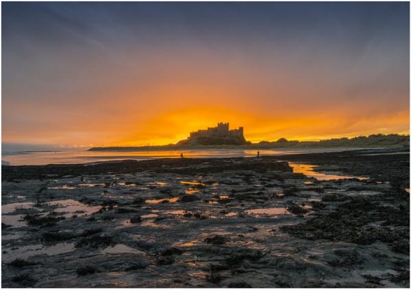 Bamburgh Castle Sunrise by jamie_w