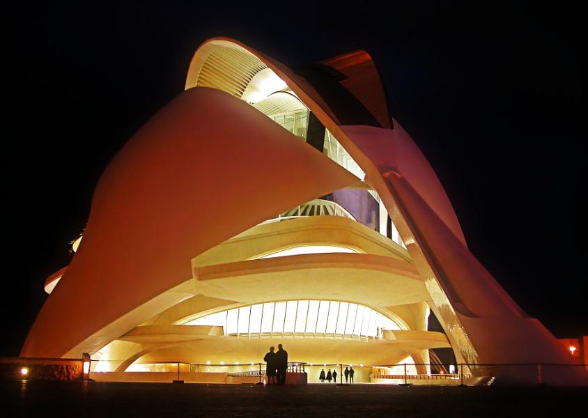 Valencia, Spain, Ciudad de las Artes y las Ciencias.