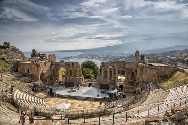 Greek Theatre Taormina by Owdman