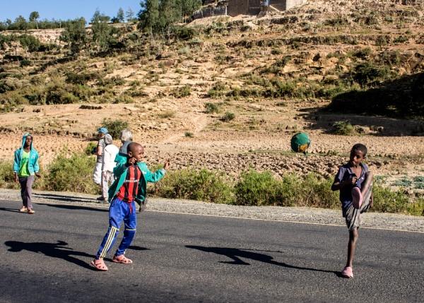 Road football - Ethiopia by barryyoungnz