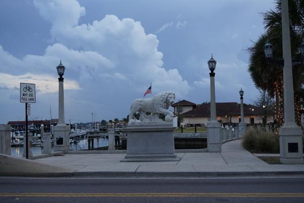 Saint Augustine Lion Flag by PhotoDavid