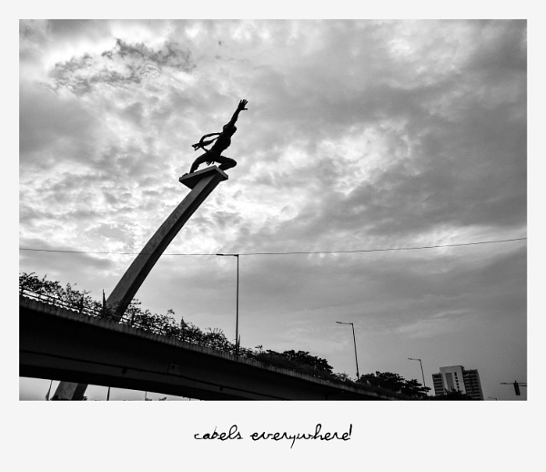 The Aerospace Statue of Indonesia by Von_Herman