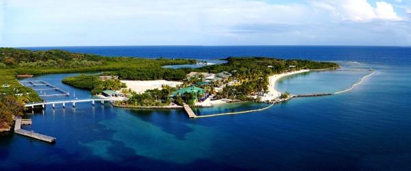 Mahogany Bay, Roatan Island, Honduras. Panorama. Fuji Finepix XP 200.DSCF_6481-6483. by rpba18205