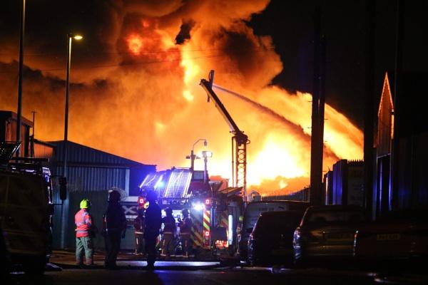 Bury scrapyard fire by philtaylorphoto