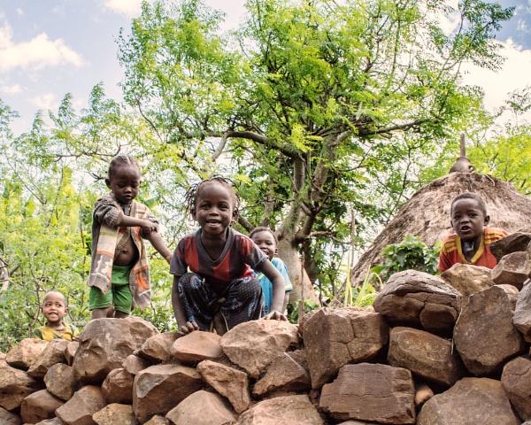 Village Children (2) - Ethiopia by barryyoungnz