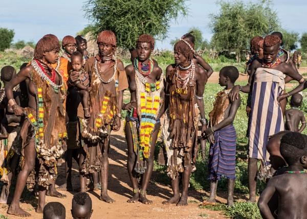 Traditional Turmi Women (1) - Southern Ethiopia by barryyoungnz