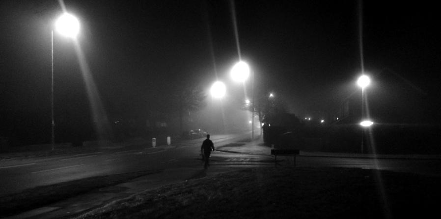 Misty Night Walk