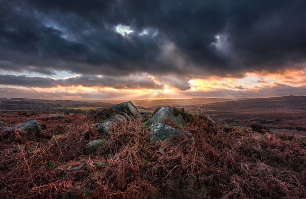 Burbage Rocks and Beams by DaveShandley