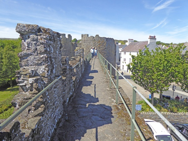 Conwy Town Wall. by Gypsyman